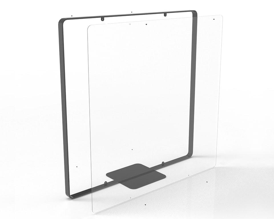 Premium quality Designer free standing screens for offices with Covid 19 Perspex internal panels which can easily be removed and replaced with fabric or lacquered panels