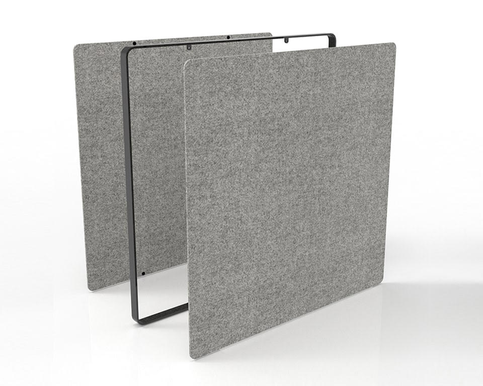 Premium quality Designer free standing office divider screens for offices with Covid 19 Perspex internal panels which can easily be removed and replaced with fabric or lacquered panels
