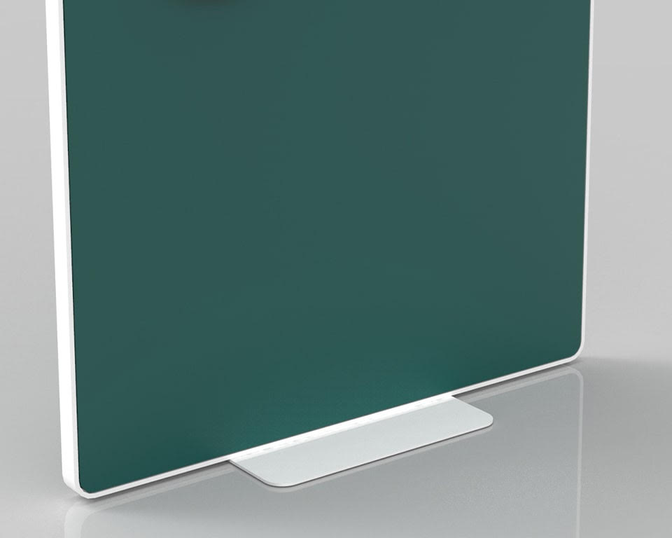 High Quality Free standing office screen in white with removable panels in matt lacquered. fabric or clear perspex.