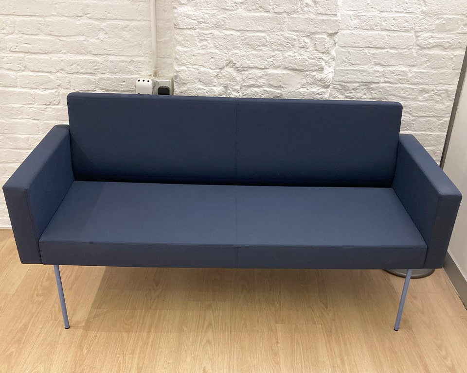 High quality reception sofa - the Laguna two seat sofa is compact and is part of the extensive modular seating range of straight and curved modules