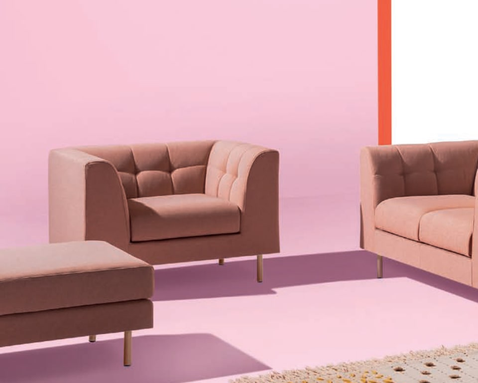 Cube high quality armchair with a quilted back detail