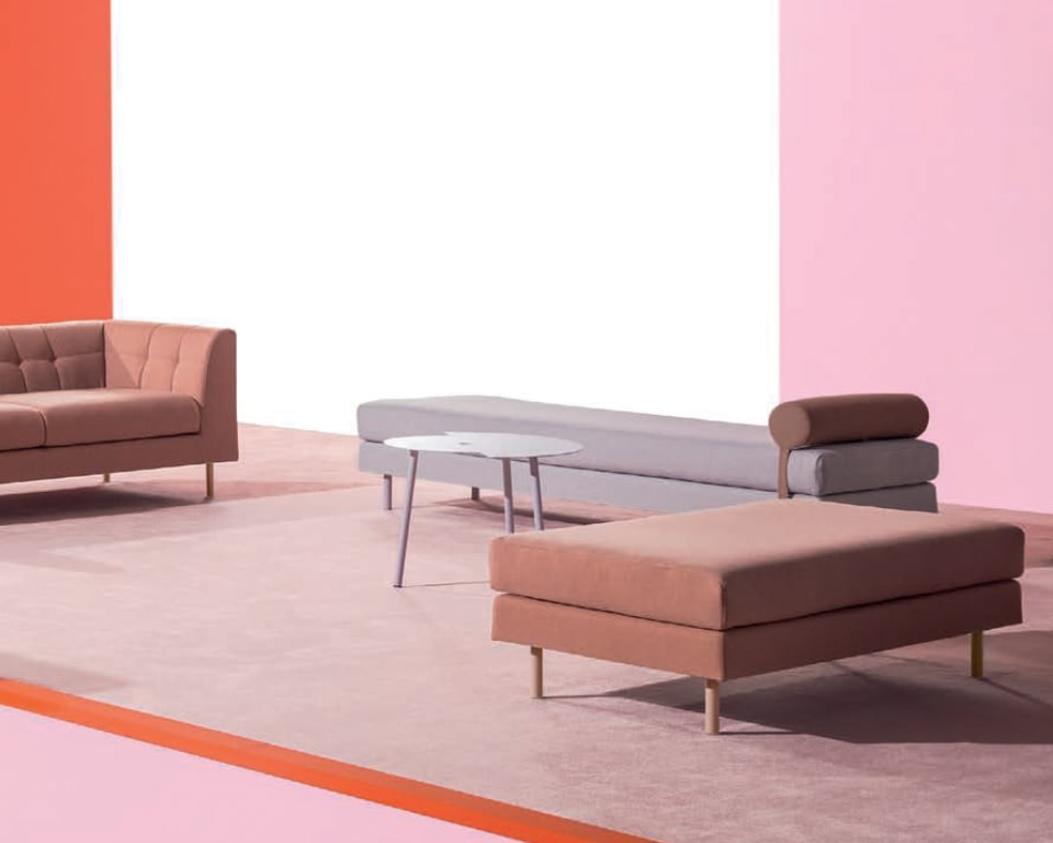 Sof seating benches for break out spaces or your office reception area. Designed to match the cube sofas and armchairs