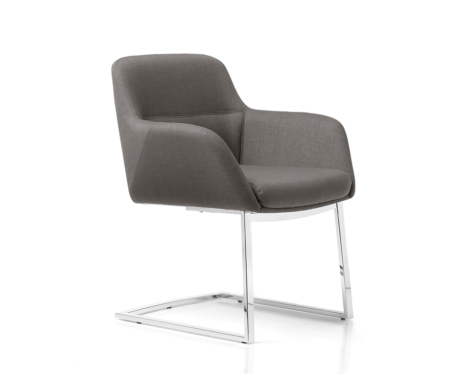 High quality leather cantilever chair for executive boardroom chairs or matching visitors chairs for Darwin high back executive chairs