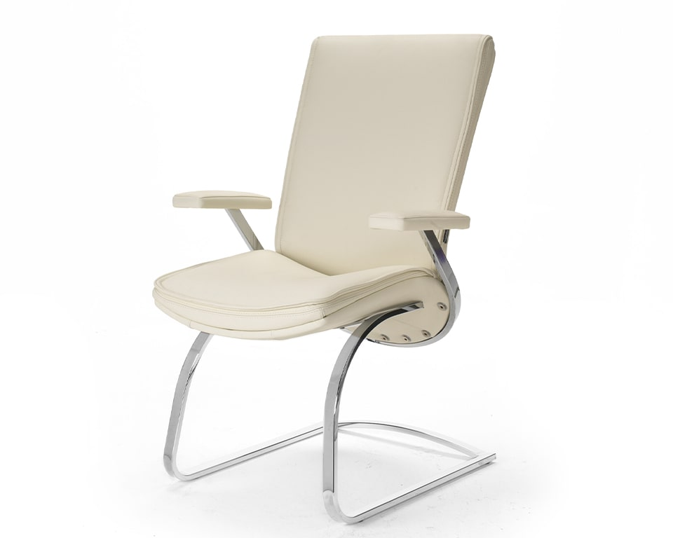 High quality leather cantilever chair for executive boardroom chairs or matching visitors chairs for Idesia high back executive chairs