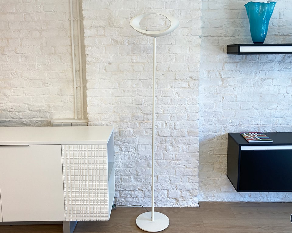 Stylish white uplighter for the office or home
